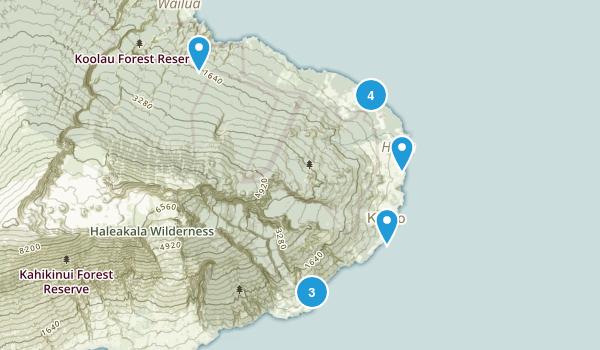 Hana, Hawaii Hiking Map