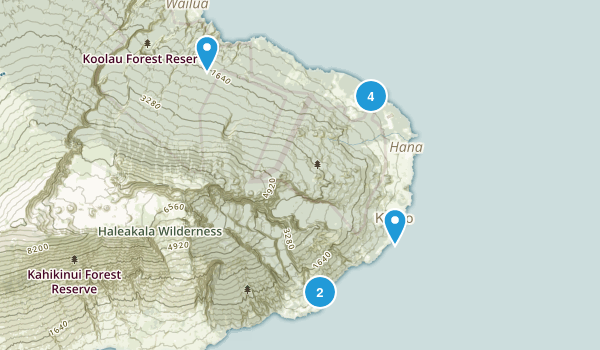 Hana, Hawaii Nature Trips Map