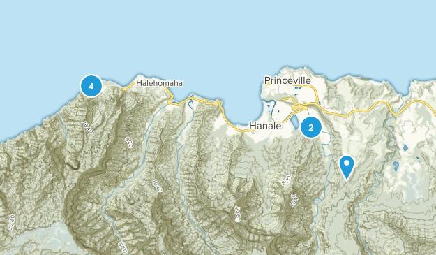 Hanalei, Hawaii Views Map