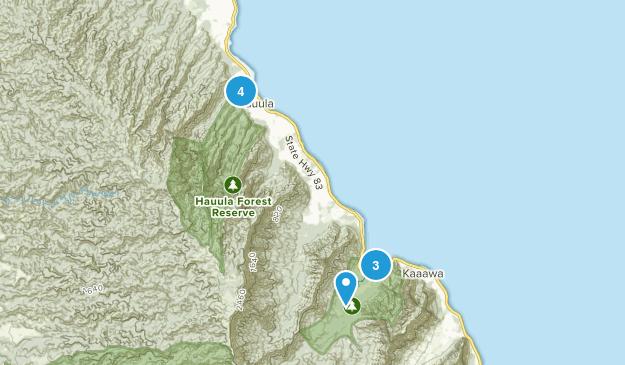 Hauula, Hawaii Birding Map