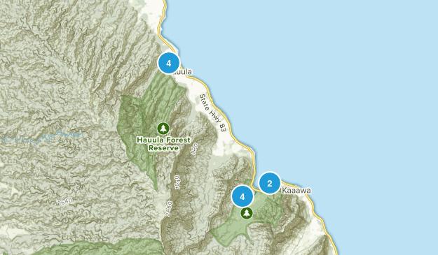 Hauula, Hawaii Hiking Map