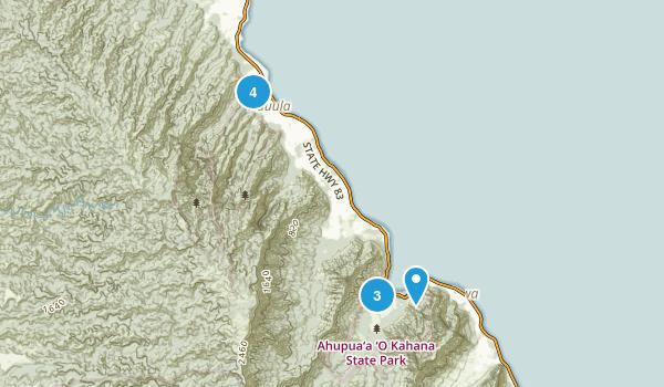 Hauula, Hawaii Nature Trips Map