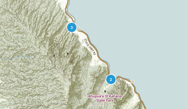Hauula, Hawaii Trail Running Map
