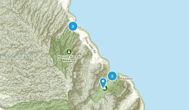 Hauula, Hawaii Walking Map