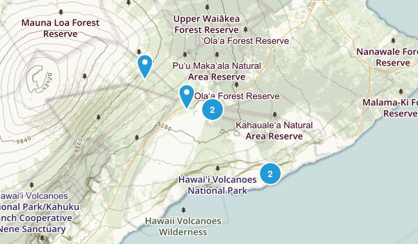 Hawaii National Park, Hawaii Wildlife Map