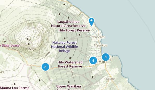 Hilo, Hawaii Nature Trips Map