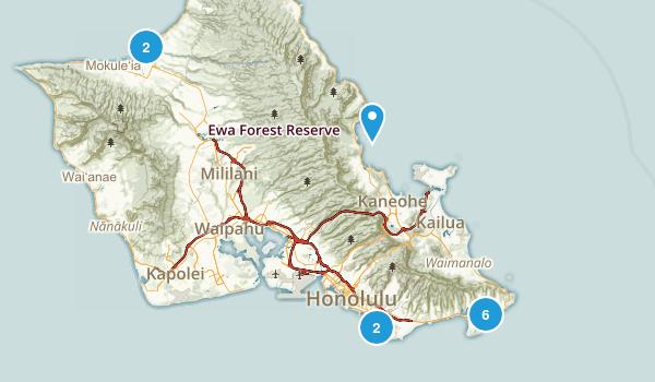Honolulu, Hawaii Beach Map