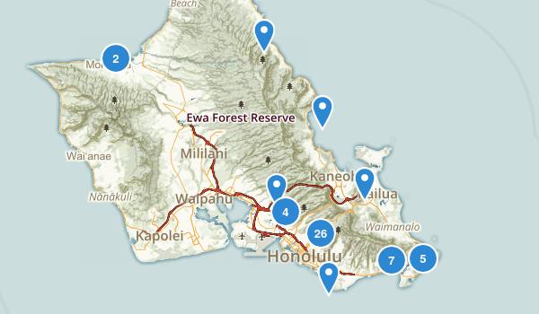 Honolulu, Hawaii Birding Map
