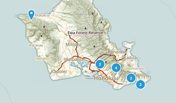 Honolulu, Hawaii Dog Friendly Map