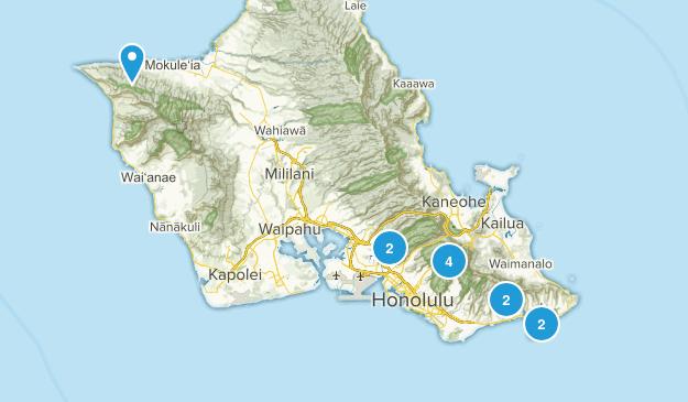 Honolulu, Hawaii Dog Friendly Map