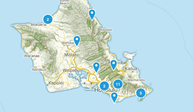 Honolulu, Hawaii No Dogs Map