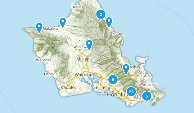 Honolulu, Hawaii Forest Map