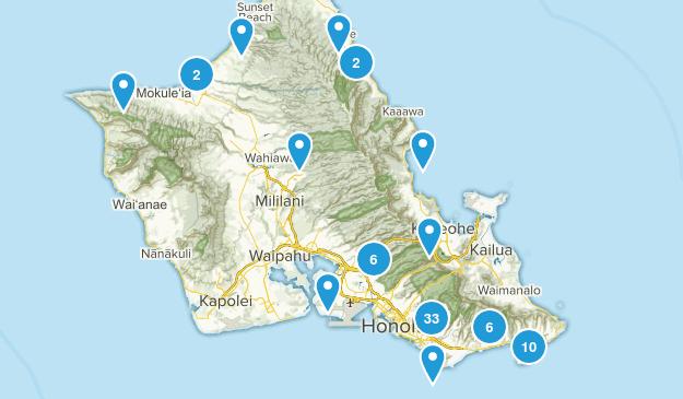 Honolulu, Hawaii Hiking Map
