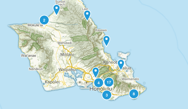 Honolulu, Hawaii Kid Friendly Map