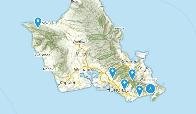 Honolulu, Hawaii Mountain Biking Map