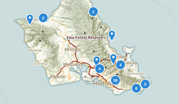 Honolulu, Hawaii Nature Trips Map