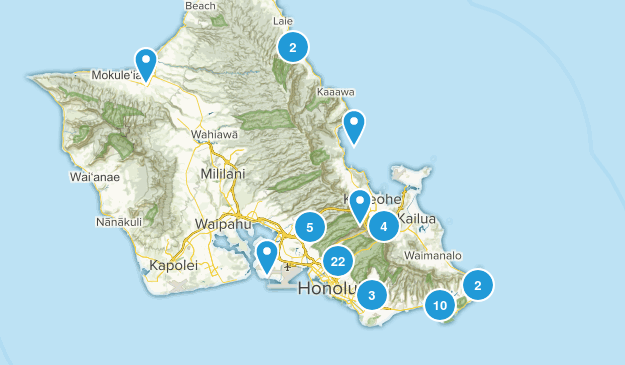Honolulu, Hawaii Nature Trips Map