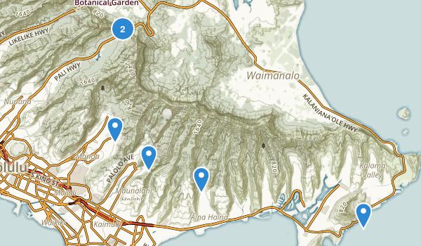 Honolulu, Hawaii Rock Climbing Map