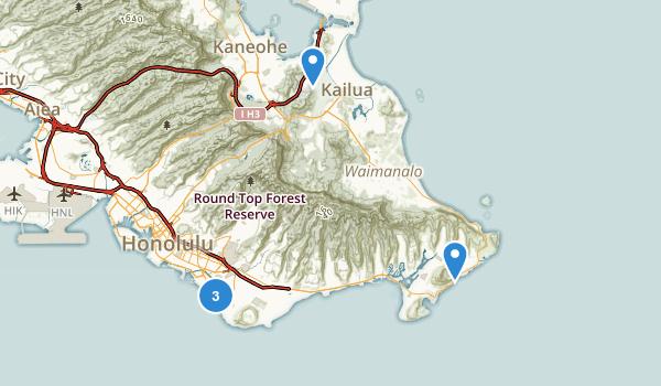 Honolulu, Hawaii Scenic Driving Map