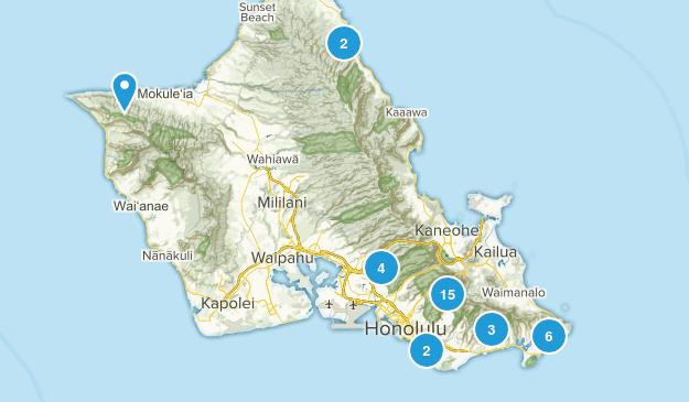 Honolulu, Hawaii Trail Running Map