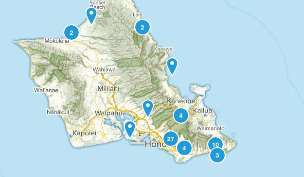 Honolulu, Hawaii Walking Map