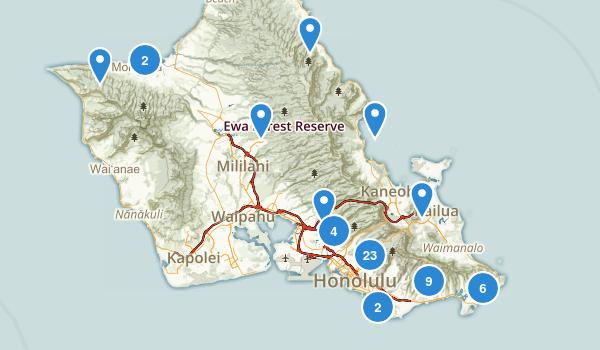 Honolulu, Hawaii Wild Flowers Map