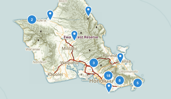 Honolulu, Hawaii Wildlife Map