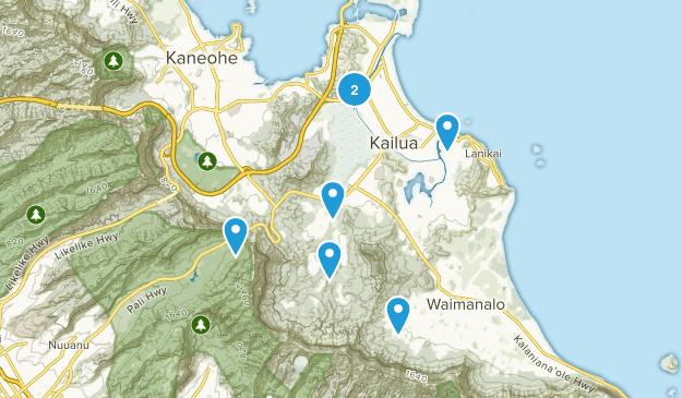Kailua, Hawaii Birding Map