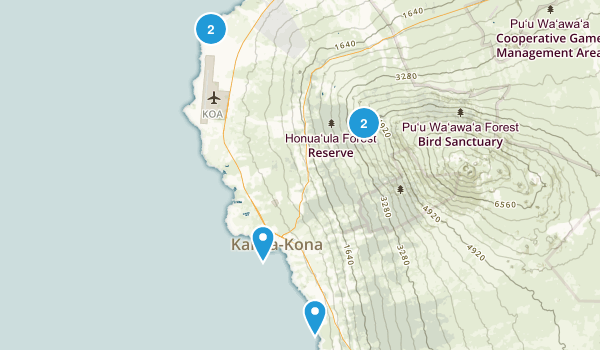 Kailua Kona, Hawaii Walking Map