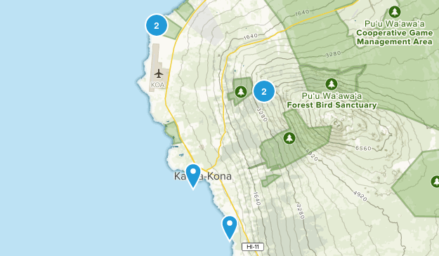 Kailua Kona, Hawaii Walking Map