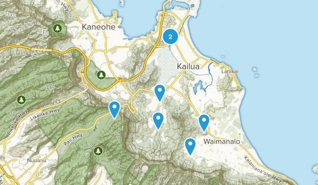 Kailua, Hawaii Nature Trips Map