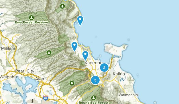 Kaneohe, Hawaii Hiking Map