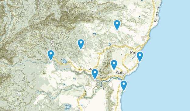 Kapaa, Hawaii Trail Running Map