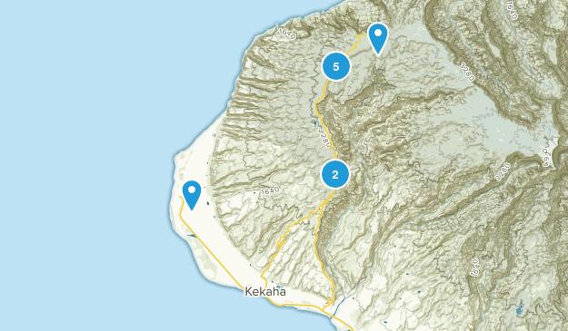 Kekaha, Hawaii Walking Map