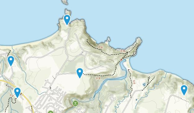 Kilauea, Hawaii Hiking Map