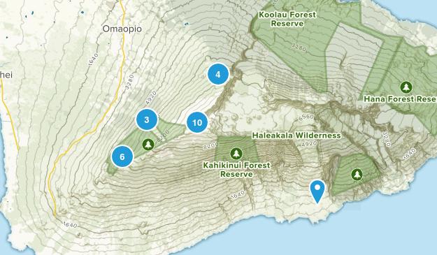 Kula, Hawaii Hiking Map