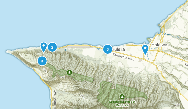 Waialua, Hawaii Views Map