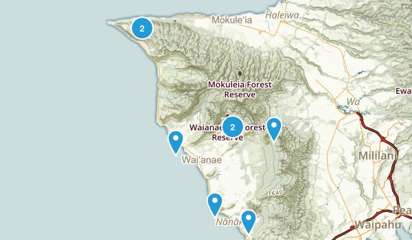 Waianae, Hawaii Birding Map