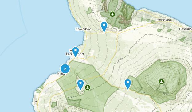 Waikoloa, Hawaii Hiking Map