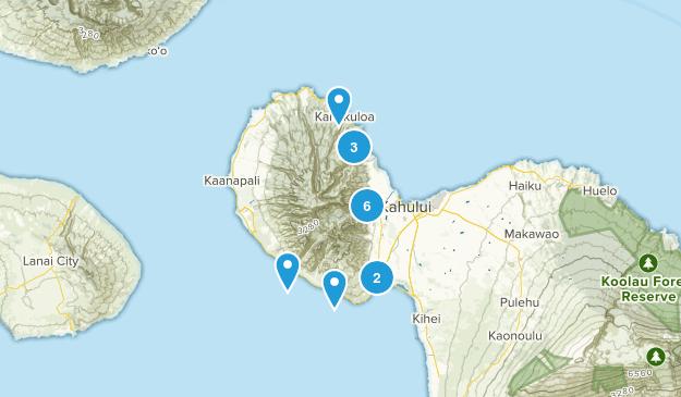 Wailuku, Hawaii Hiking Map