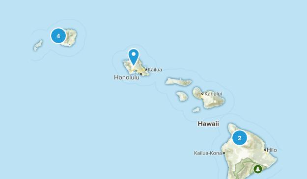 Waimea, Hawaii Walking Map