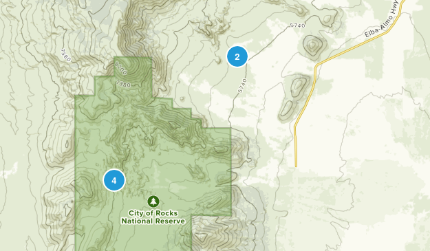 Almo, Idaho Hiking Map