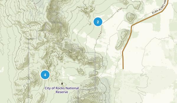 Almo, Idaho Walking Map