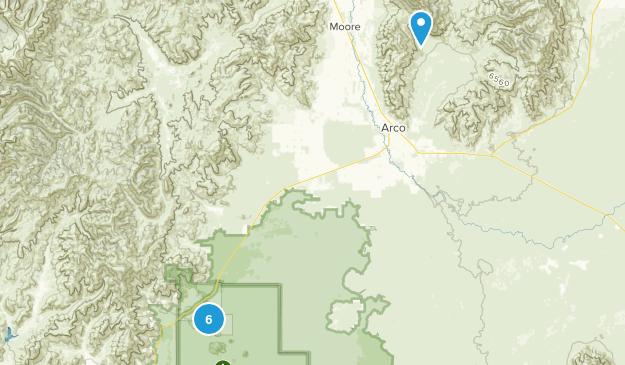 Arco, Idaho Hiking Map