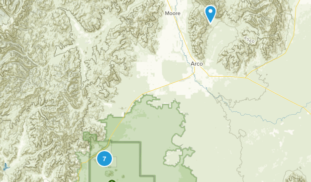 Arco, Idaho Nature Trips Map