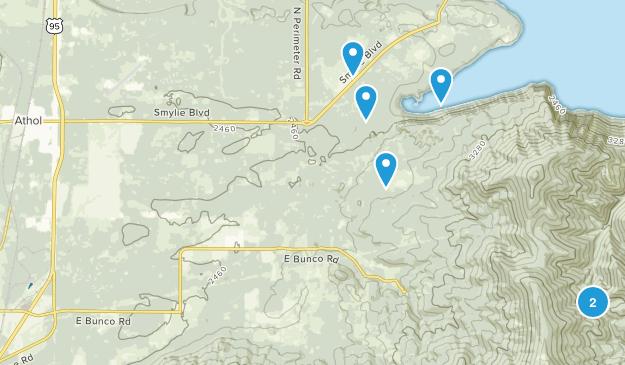 Athol, Idaho Hiking Map