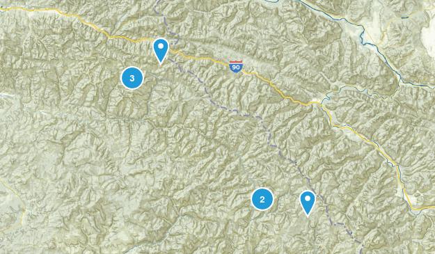 Avery, Idaho Hiking Map