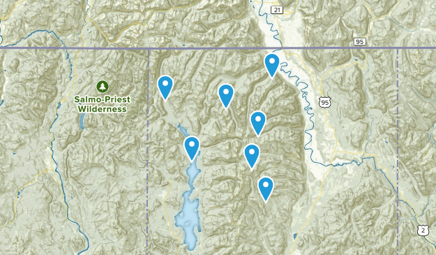 Bonners Ferry, Idaho Camping Map