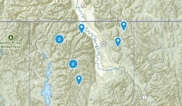 Bonners Ferry, Idaho Dogs On Leash Map