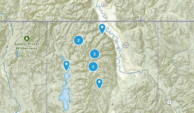 Bonners Ferry, Idaho Lake Map
